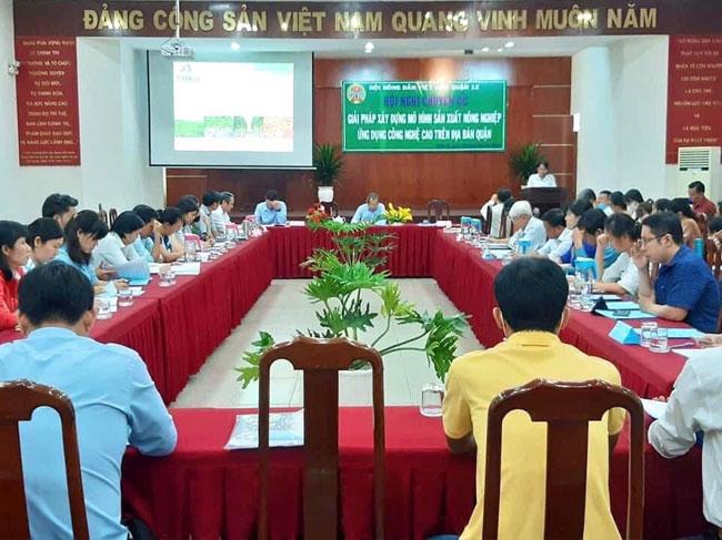 """Hội nghị chuyên đề """"Giải pháp xây dựng mô hình sản xuất nông nghiệp ứng dụng công nghệ cao"""" trên địa bàn quận 12"""