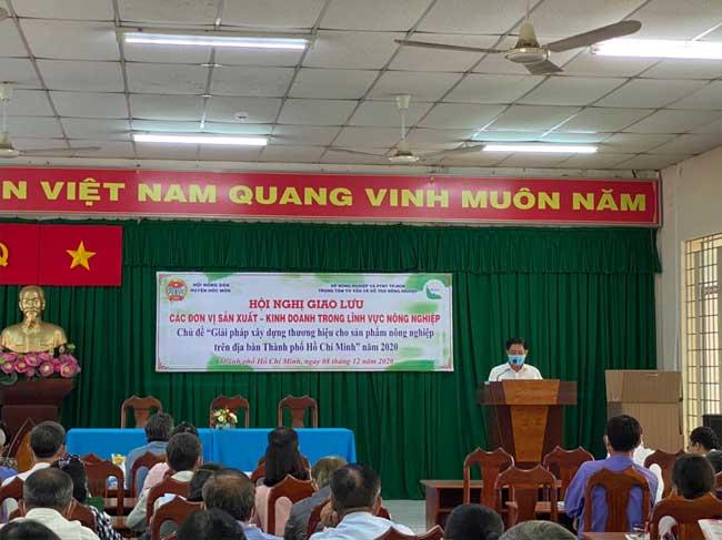 """Hội nghị giao lưu các đơn vị sản xuất – kinh doanh trong lĩnh vực nông nghiệp với chủ đề """"Giải pháp xây dựng thương hiệu cho sản phẩm nông nghiệp trên địa bàn Thành phố Hồ Chí Minh"""" năm 2020"""
